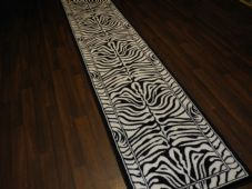 Runners Approx 8x2 60x220cm Woven Black/Off White Top Quality zebra Print Rugs